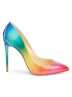 8d0827868130 Christian Louboutin. Pigalle Follies 100 Rainbow Patent Leather Pumps