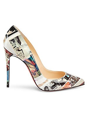 a776a32ac98 Christian Louboutin - New Very Privé 120 Printed Patent Leather Peep ...