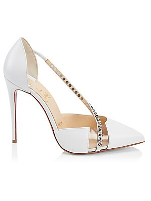 Spike Cross 100 Leather Pumps by Christian Louboutin