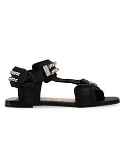 7a7e439ae3ba9b QUICK VIEW. Gucci. Shea Bejeweled Gladiator Sandals