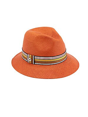 3a9199f77b1 Loro Piana - Ingrid Multi Stripe Ribbon Straw Fedora