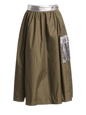 Ganni Skirts Paradise Two-Way Tech Midi Skirt