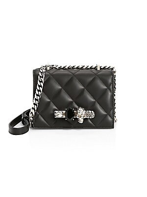 0a4eccb7064f Alexander McQueen - Small Jewelled Quilted Leather Crossbody Bag