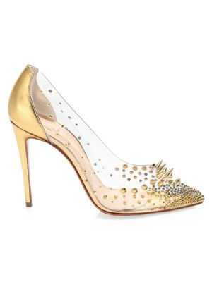 huge selection of 39d46 b4e88 Grotika Embellished PVC & Metallic Leather Pumps