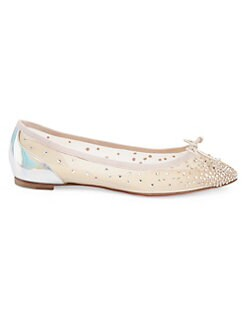 39be612d4237 Christian Louboutin. Patio Embellished Leather Flats