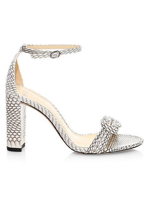 Vicky Knotted Python Sandals
