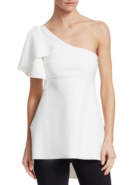 Chiara Boni La Petite Robe Clarisse One-Shoulder Peplum Top | SaksFifthAvenue