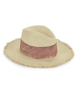 5b8de58ab24 Rag   Bone. Frayed Panama Straw Hat