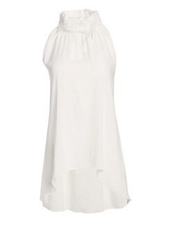 35b1fcd3ee4330 QUICK VIEW. Fabiana Filippi. Organza Halterneck Sleeveless Top