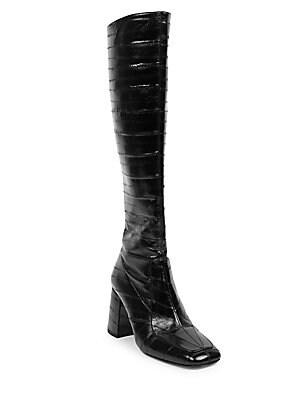 95333fe59a3 Saint Laurent - Niki Over-The-Knee Crystal Boots - saks.com