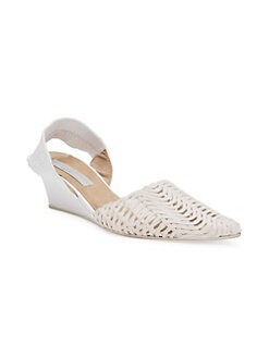 0f040b77728 QUICK VIEW. Stella McCartney. Basket Weave Wedge Sandals