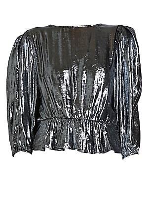 df474544e9b201 Isabel Marant - Ogi Silk Tie Neck Striped Blouse - saks.com