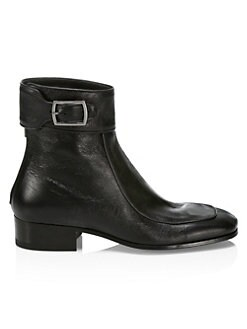 QUICK VIEW. Saint Laurent. Miles Aged Leather Booties 50327fc31a