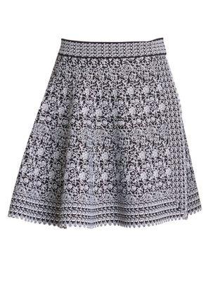 Alaïa Labyrinth Knit Short Skirt