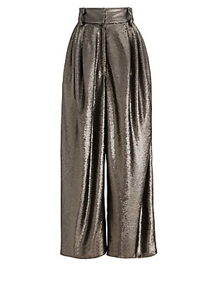 Dressy Sequin High Rise Trousers by Marc Jacobs