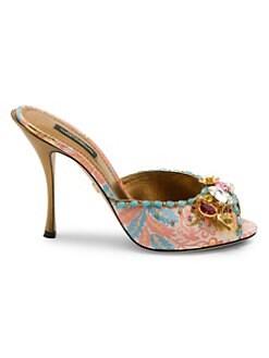 7c3d1d159ebb6 QUICK VIEW. Dolce   Gabbana. Jeweled Slide Sandals