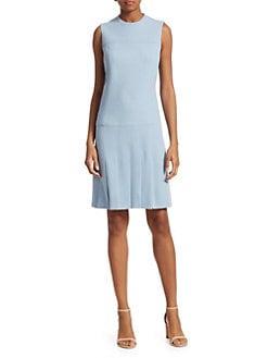 d49f667e6c Akris punto. Sleeveless Pleated Shirt Dress