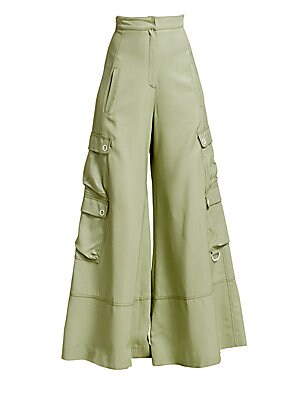 Lux Twill Wide Leg Cargo Pants by Jonathan Simkhai