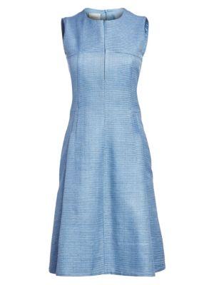 Akris Punto Sleeveless Raw Silk Sheath Dress