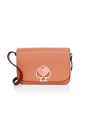 Nicola Spade & Heart Lock Leather Shoulder Bag by Kate Spade New York