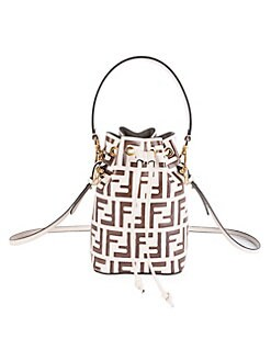 61606b54908f Fendi. Mini Mon Tresor Leather Bucket Bag