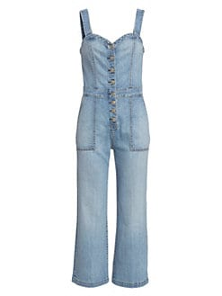 e03abaf2e3a QUICK VIEW. 7 For All Mankind. Corset Tank Denim Playsuit