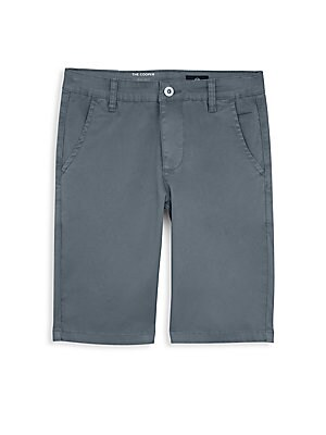 Image of Chino shorts in stretch cotton with a longer leg and plenty of pockets. Belt loops Button/zip fly closure Two slanted front pockets Two back welt pockets Cotton/spandex Machine wash Imported. Children's Wear - Contemporary Children > Saks Fifth Avenue. ag