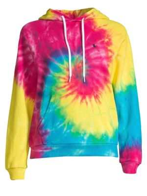 baeb90c2bfbd Polo Ralph Lauren - Shrunken Pique Long-Sleeve Tie-Dye Hoodie
