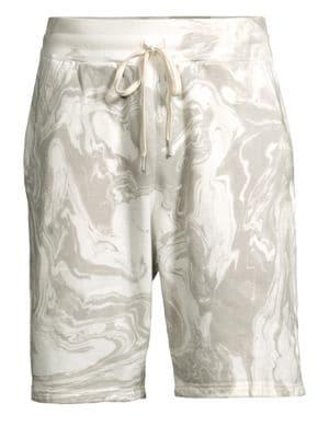 John Elliott Shorts Marble-Dye Cotton Shorts
