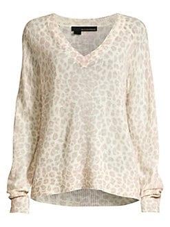 531b79f5506 QUICK VIEW. 360 Cashmere. Sylvia Leopard Cashmere Sweater