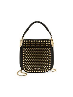 Product image. QUICK VIEW. Prada. Small Studded Margit Shoulder Bag e9b3645020