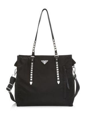39780983470e Prada - Double Leather Tote - saks.com