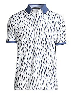 f25e4fed Product image. QUICK VIEW. Greyson. Blue Valentine Bird Print Polo