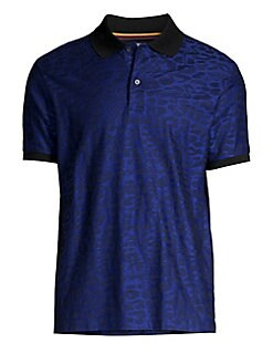 f660b2bbb Product image. QUICK VIEW. Paul Smith. Leopard Print Jacquard Polo Shirt