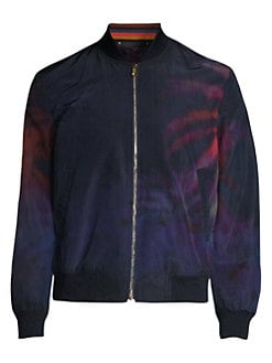 b00e53b5bcaa Paul Smith. Woven Palm Tree Bomber Jacket