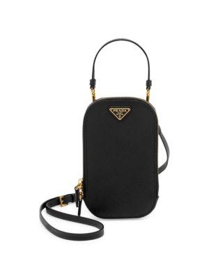 Leather Crossbody Bag by Prada