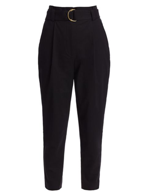 A.L.C. Diego High-Waist Belted Ankle Pants | SaksFifthAvenue