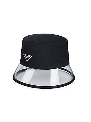 c03060e2421d3 Prada - Textile   Plexiglass Bucket Hat - saks.com