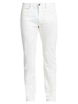 Image of A mainstay of the Theory pant collection, the Haydin pant is a classic five-pocket style with a slim-straight fit and button zip fly. Made of soft-washed premium cotton, an update to our Writer fabric from seasons past. Five-pocket style Zip fly with butt