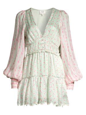Hemant & Nandita Dresses Embroidered Floral Peasant Dress