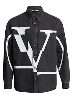 e05d23ff5199 Logo Denim Jacket BLACK WHITE. QUICK VIEW. Product image