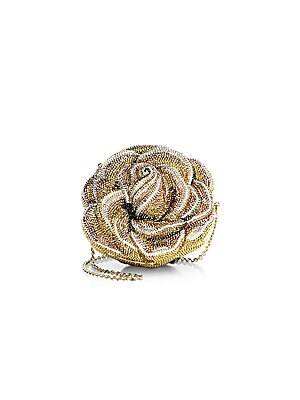 Novelty New Rose Crystal Clutch by Judith Leiber Couture