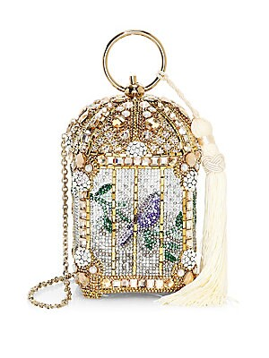 Gilded Birdcage Clutch by Judith Leiber Couture