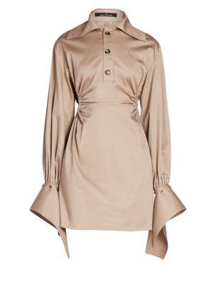 Detachable Cuff Side Cutout Polo Dress by Rokh