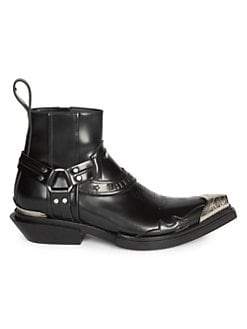 406c643c6 QUICK VIEW. Balenciaga. Santiago Leather Western Ankle Boots