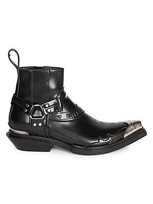 62f0629866c Balenciaga - Santiago Leather Western Ankle Boots