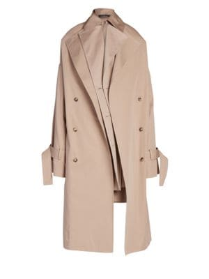 Rokh Double Layer Trench Coat