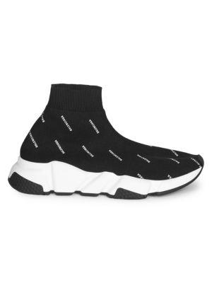 Speed Logo Print Sock Sneakers
