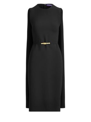 Ralph Lauren Dresses Aviana Belted Cape Dress
