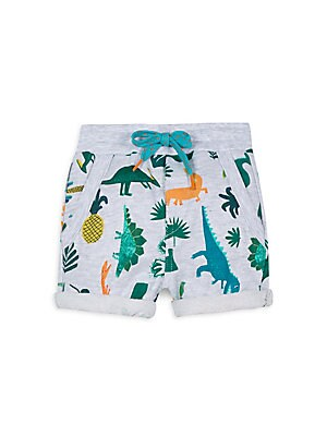 Image of A colorful array of dinosaurs in a faded finish adds interest to these comfy cotton shorts. Elasticized drawstring waist Pull-on style Waist slash pockets Rolled cuffs Cotton Machine wash Imported. Children's Wear - Contemporary Children. Catimini. Color: